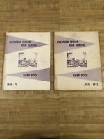 Litchfield Senior High School Hand Book Lot Of 2 1970-1972 vintage