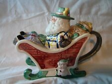 Collectible Teapot St. Nickolas in Sleigh used