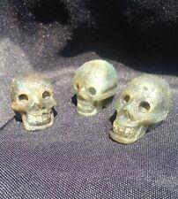 natural Labradorite crystal gemstone carved skull - Unpolished boho/hippy/urban