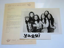 YAQUI Press kit , manager letter and photo East LA Chicano rock band