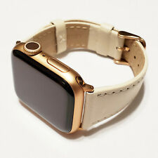 Leather Band for Apple Watch Series 5, 4, 3, 2, and 1 for 38/40mm watch cases