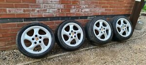 "Porsche Style Twist 17"" Alloy Wheels Boxster 944 928 911"