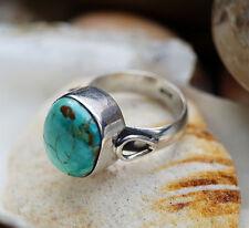 Silberring 57 Türkis Bronze Design Handarbeit Ring Silber Schlicht Elegant Hoch