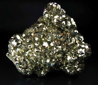 PYRITE PENTADODECAHEDRAL BRILLIANT CRYSTALS on MATRIX from PERU -QUIRUVILCA MINE