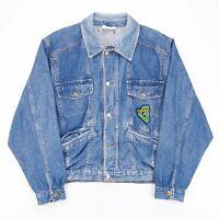 Vintage GENERAL COMPANY JEANS  Blue 80s Cotton Casual Denim Jacket Mens L