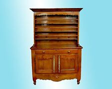 HANDMADE FRENCH PROVINCIAL FRUITWOOD PEWTER CUPBOARD C. 1810