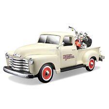 HD Custom, 1950 Chevy Pick Up + 2001 Heritage Springer, Maisto Modell 1:25