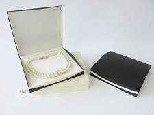 Large Luxurious Black & Ivory Necklace Jewellery Gift Presentation Box Case