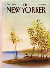New Yorker COVER 10/01/1984 - Cyclist on Island - DEGEN