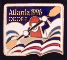 Kayak Olympic Venue Pin Badge~1996 Atlanta~Ocoee White Water~New on Card!!