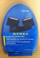 Dynex 10' Foot Parallel DB25 M/M, PC to PC File Transfer Cable