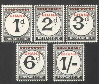 Ghana 1958 Postage Due/To Pay/Gold Coast with Overprint 5v set o/p (n28749)