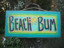 BEACH BUM TROPICAL PARROTHEAD POOL HOT TUB TIKI HUT SIGN PLAQUE