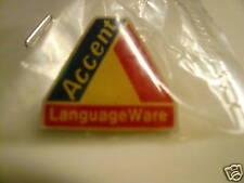 Original ACCENT LANGUAGE WARE  Lapel Pin