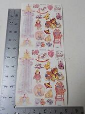 NRN DESIGNS VINTAGE BABY GIRL TOYS DOLLS STICKERS SCRAPBOOKING A3125