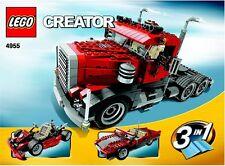 Lego Creator # 4955  Big Rig Truck New SEALED - Ships World Wide