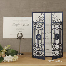 Lace Gate Laser Cut Wedding Invitation Set, Handmade Personalised - Sample