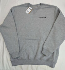 Carhartt Mens Midweight Graphic CREWNECK sweatshirt HTHER GRY Large [BX40-3307]