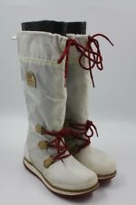 Sorel Ladies Women Ladies White Gray Red Waterproof Lined Boots Size 5.5