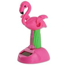 Desk Dancing Solar Toy - Fliping Wings Flamingo on Pink Base Animal Solar Toys