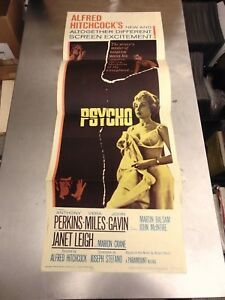 Alfred Hitchcock Psycho Original Insert Poster N3073
