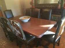 Large Copper Dining Table with Metal Base $950