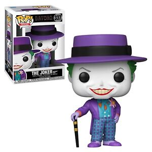 Funko POP! Heroes Batman 1989 Joker w/ Hat 337 NIB - In Stock