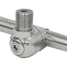 """Stainless Steel Marine Antenna Mount Bracket For Rail Mounting Fits 7/8-1"""""""