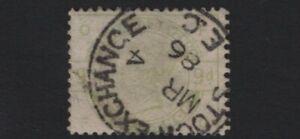 1884 QV SG195 9d Dull Green K25 FO Used CV £480