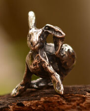 Rustic Bunny Sweetest Ever Sterling Silver Charm