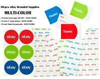 30-pcs EBAY BRANDED SUPPLIES multi set Tissue Paper-Stickers-Thank You Postcards