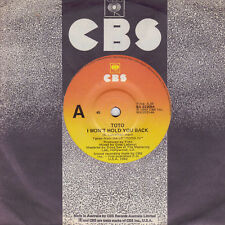 TOTO I Won't Hold You Back / Afraid Of Love 45    SirH70