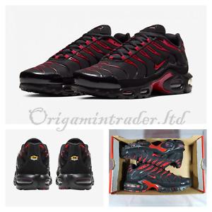 Nike Air Max Plus Trainers Black University Red CU4864-001