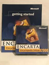 Encarta Encyclopedia Deluxe 2000 Microsoft Cd w/ Manual