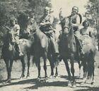 Horseback Riding at El Rancho Adolphus Postcard Scranton PA Quack Medicine
