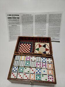 Double 9 Dominoe Game In Outdoorlife Wooden Case