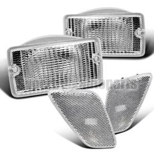 For 1997-2006 Jeep Wrangler Bumper Signal Lights+Fender Side Marker Lights Lamp