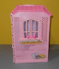 2000 Mattel Pink Portable Fold Up Magi-Key Barbie Doll House w/ Bathtub