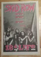 Skid Row 18 & Life  1990  press advert Full page 27 x 38 cm mini poster
