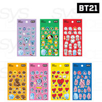 BTS BT21 Official Authentic Goods Soft Sticker 7SET by Kumhong Fancy +Tracking #
