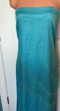 Rampage Turquoise Blue Long Formal Dress Sz 11 Strapless Rhinestones