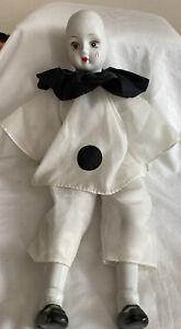 Vintage Pierrot Clown Doll