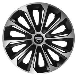 15'' Wheel trims for Dacia Sandero - black/silver 4x15''