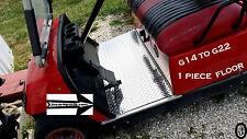 Yamaha G14 -G16-G19 G21-G22 golf cart Highly Polished Diamond Plate 1 pc Floor
