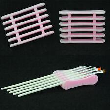 Plastic Holder Standing For Nail Art Paint Brush Makeup Pens Tools Vogue Kit AU