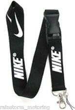 Nike Lanyard NEW Blue Black Red Pink - UK Seller - Keyring ID Holder Phone Strap