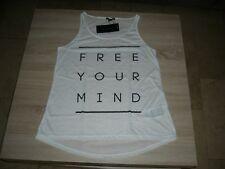 """Damen - Top, in weiß mit Aufdruck """" FREE YOUR MIND"""", Gr.40 (XL)"""