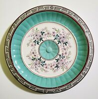 """Antique Sarreguemines Earthenware Charger Majolica Faience 9.25"""""""
