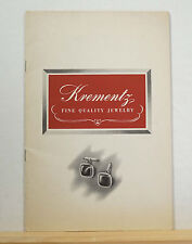 Krementz Fine Quality Jewelry Booklet 1944 Vintage Newark NJ Rolled Gold Plate
