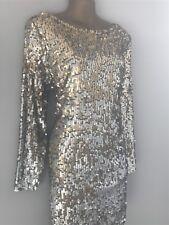 *New Monsoon Juliet Sequin Dress/Tunic sz 14 Silver Gold 2
